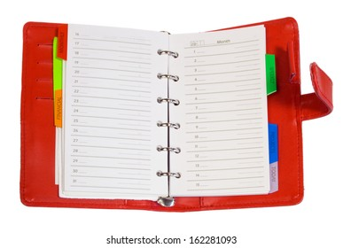 Blank notepad isolated on white background.