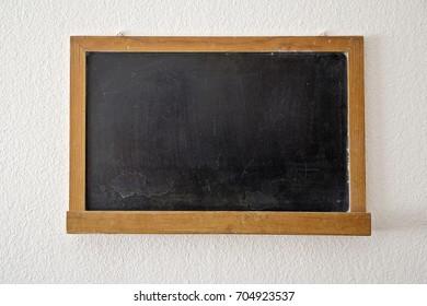 Blank old blackboard. School