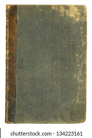 Blank old book cover, isolated.