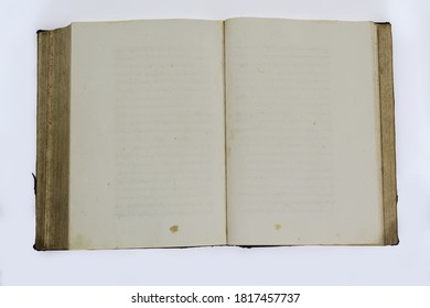 blank old book isolated on white