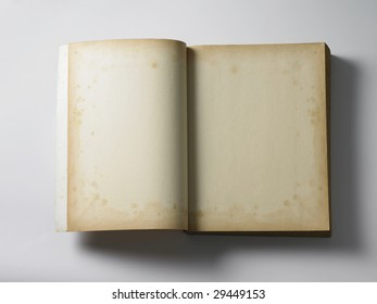 blank old book on the plain background