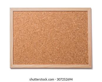 Blank old corkboard
