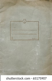 blank old exercise book - vintage background