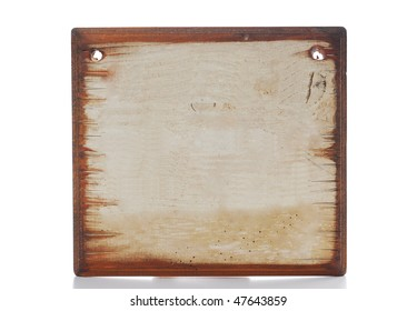 blank old message sign