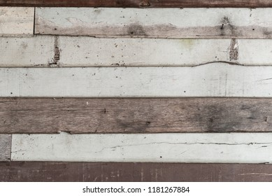 Blank old natural wooden planks wall - background or texture
