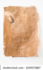 Blank old paper on a white background.