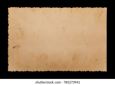 Blank old photo frame isolated on black background, with clopping path