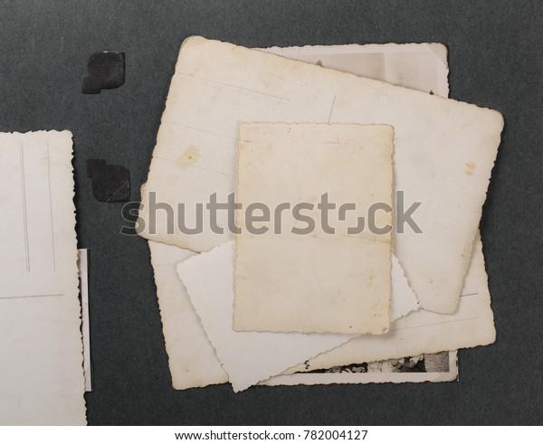Blank Old Photos Vintage Album Page Stock Photo Edit Now