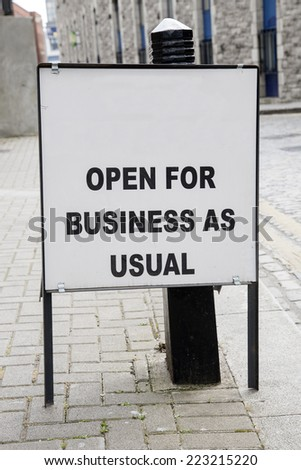 blank open business sign urban setting stock photo edit now