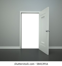 A blank open doorway with a clippling path for you to add wanything you want.
