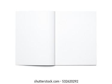 Blank open magazine isolated - Shutterstock ID 532620292