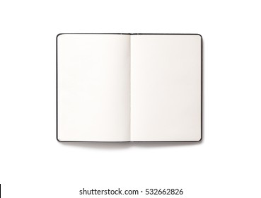 Blank open Notepad isolated