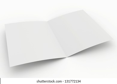 blank open paper on a white background