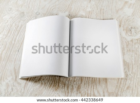 blank opened book soft shadows on stock photo edit now 442338649