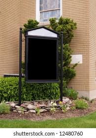 a blank outside church sign