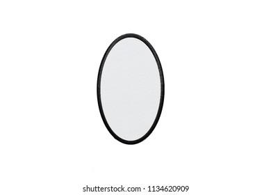 Blank oval Logo Patch on white background