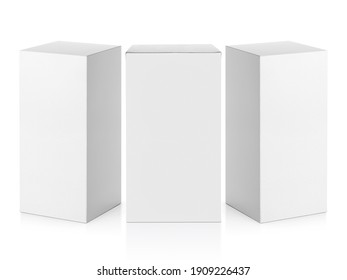 blank packaging white cardboard box isolated on white background ready for packaging design - Shutterstock ID 1909226437