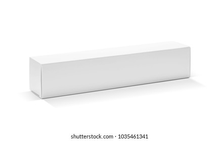 blank packaging white cardboard paper box for product design isolated on white background with clipping path