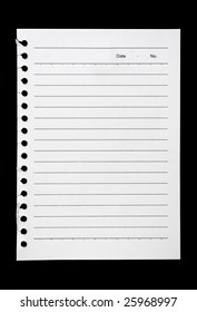 Blank page held waiting for your message on black. Add your own text or design.