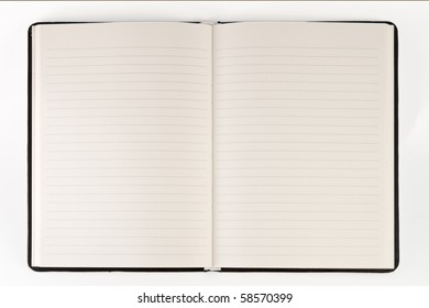 blank page of note book on white isolate,good used for web or background