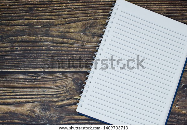 Blank Page Notebook Taking Notes Ideas Stock Photo (Edit Now