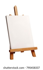 blank painter easel isolated