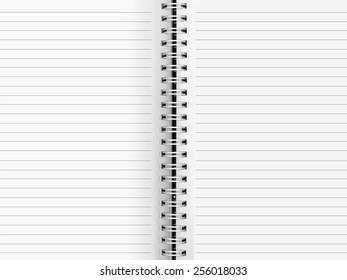 Blank paper binder