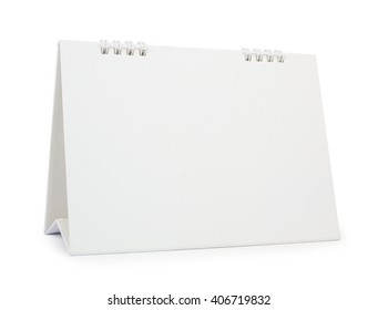 blank paper desk calendar with soft shadows, isolated on white,  file includes a excellent clipping path