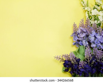 blank paper with lavender and on texture paper place for your