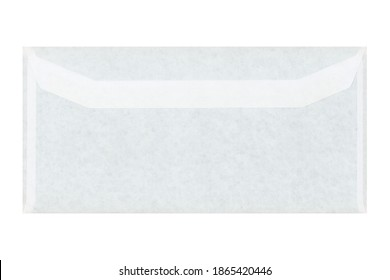 blank paper letter envelope for mail postage isolated over white background