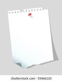 Blank paper note. Also available in vector.