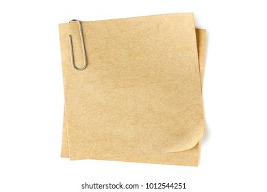 blank paper note on white, detailed paper texture for messages or backgrounds