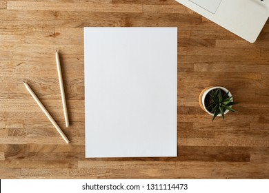 blank paper on the table with nobody
