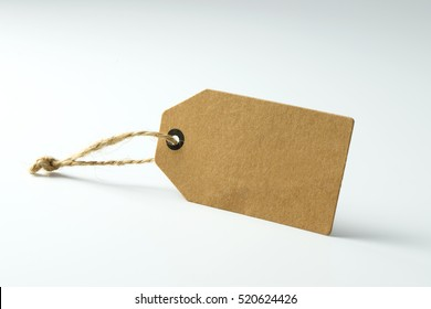 Blank paper price tag, with copy space