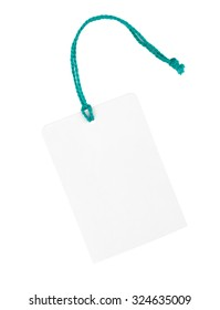 Blank paper price tag or label isolated on a white background