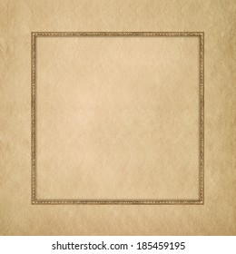 Blank paper sheet in picture frame