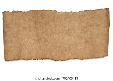 blank paper sheet texture isolated on white