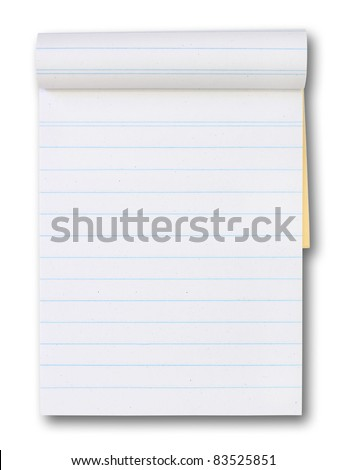 blank paper tablet blue lines stock photo edit now 83525851