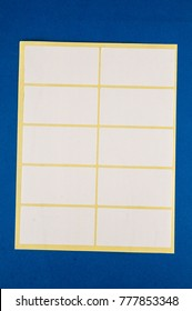 Blank Paper Tag Adhesive Label