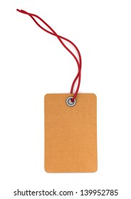 Blank paper tag isolated, 3d