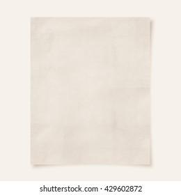 blank paper (Vintage filter effect used)