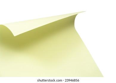 Blank papery sheet