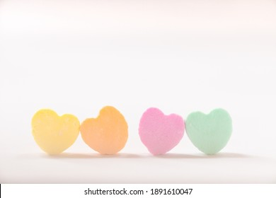 Blank pastel candy conversation hearts