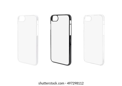 Blank phone case on isolated background with clipping path.