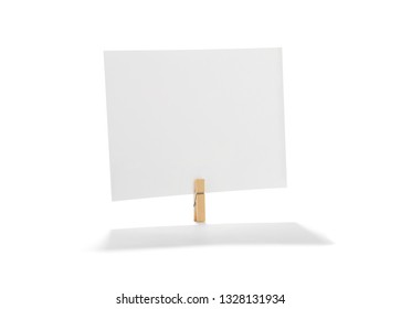 Blank Photo Card on Clothespin