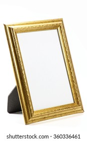 blank picture frame isolated on white background