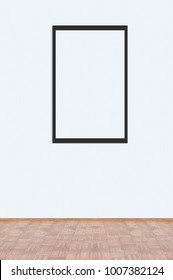 Blank picture frame template in home interior