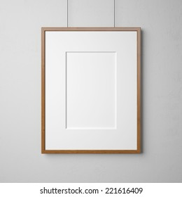 Blank picture on the wall