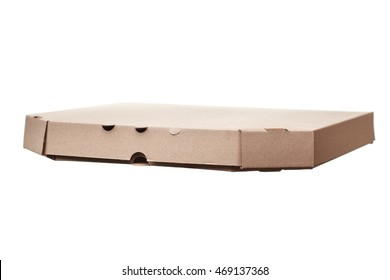 the blank pizza boxes isolated on white background.