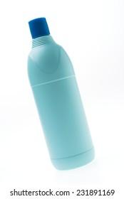 Blank plastic bottle isolated on white background
